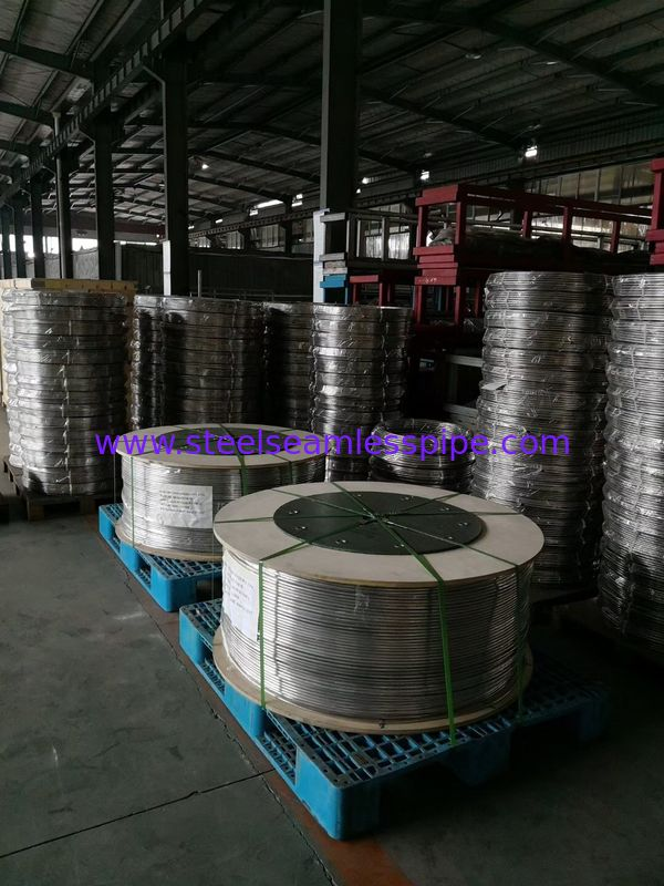 Stainless Steel Coil Tubing ,ASTM A249 / TP316L,TP316Ti ,TP321,TP347H,TP904L, Bright Annealed , Coil form