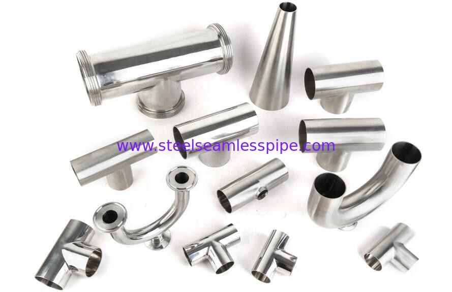 Mirror polished sanitary stainless steel pipe fitting Material 3A/DIN/SMS/ID SS304,SS316-Accesorios sanitarios