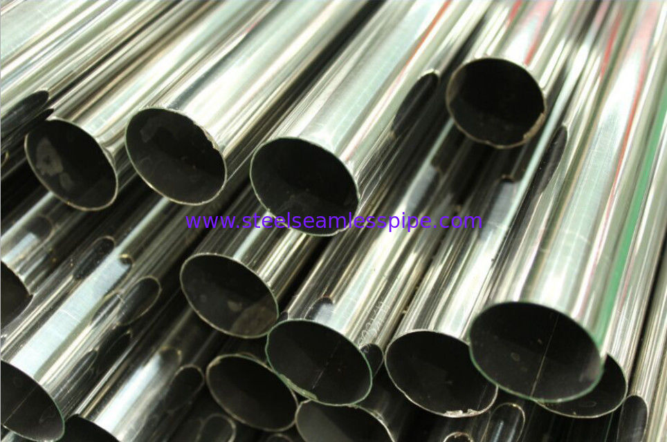 Stainless Steel Welded Pipe, Polished, Plain End, ASTM A554 TP304 / 304L TP316 / 316L TP321 / 321H, Length 6M